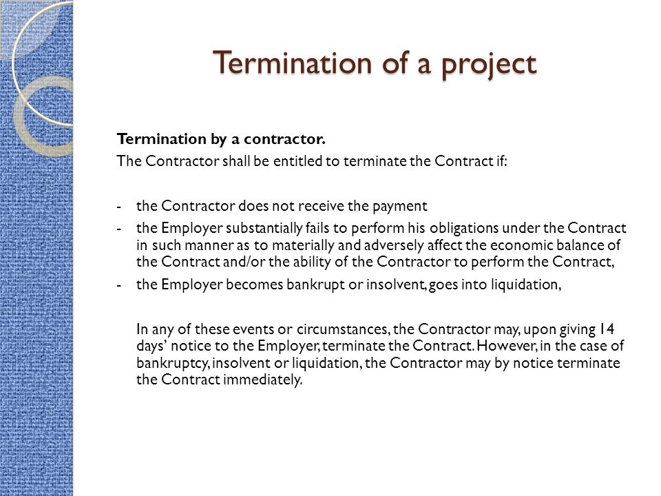 notice of termination of contract radiovkm