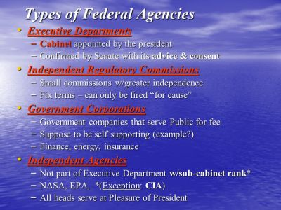 Chapter 13- The Federal Bureaucracy - ppt download