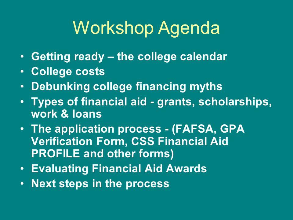 College Financing Workshop - ppt download - steps for creating a grant calendar