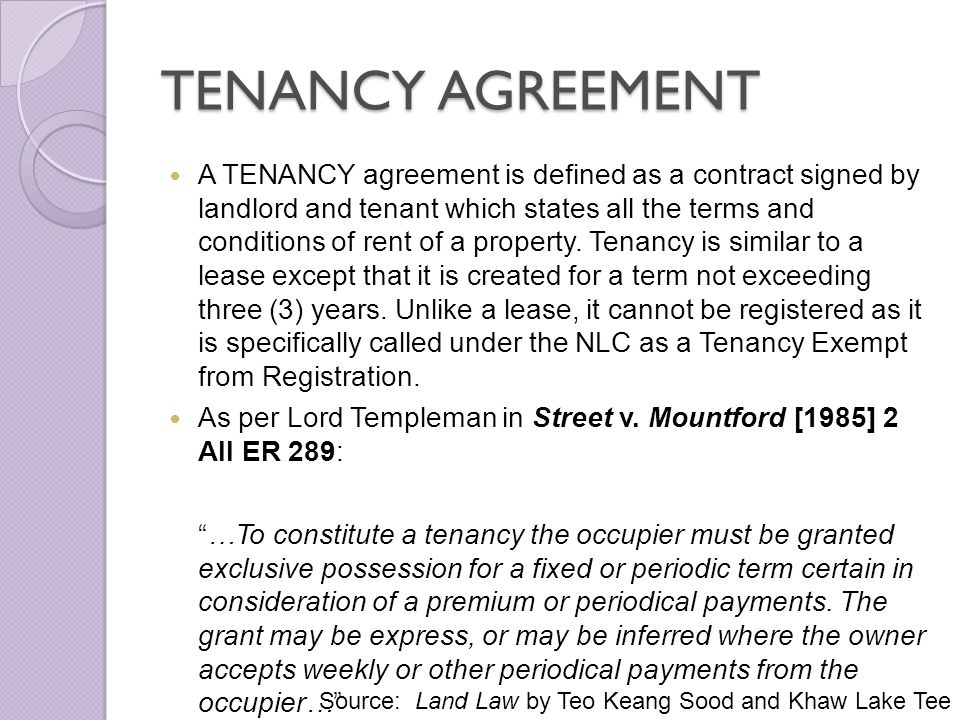 ISSUES IN TENANCY MATTERS IN MALAYSIA - ppt download - what is a lease between landlord and tenant