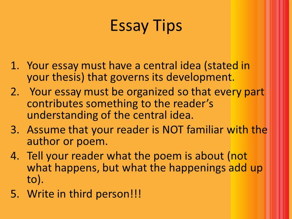 third person essay