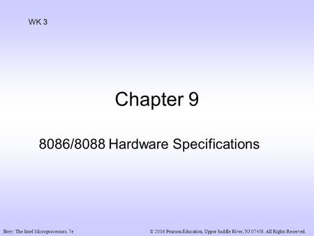 ORG ; NINE 8088,80286 MICROPROCESSORS AND ISA BUS Dec Hex Bin - ppt