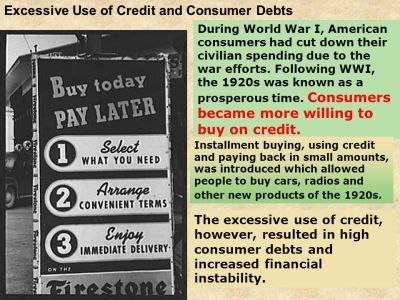 Excessive Use of Credit and Consumer Debts - ppt download
