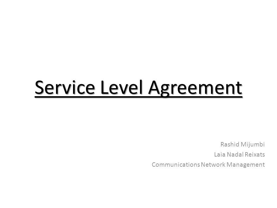 Service Level Agreement - ppt video online download - service level agreement