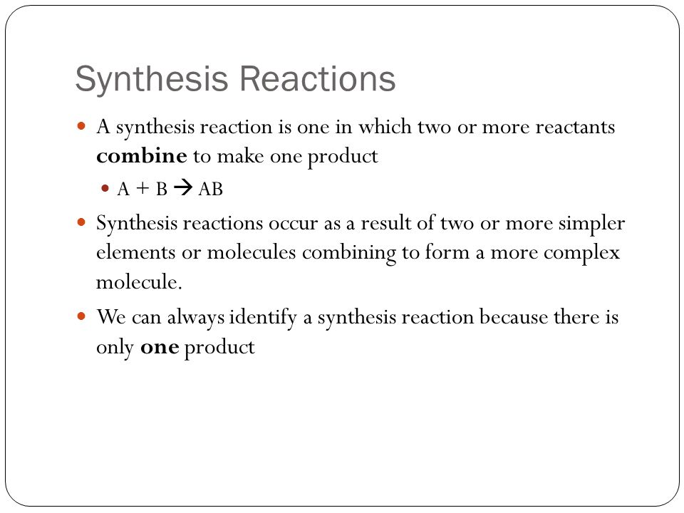 Types of Reactions Key Terms Combustion reaction - ppt video online - synthesis reaction