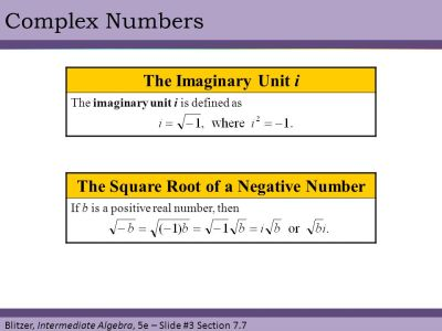 § 7.7 Complex Numbers. - ppt download