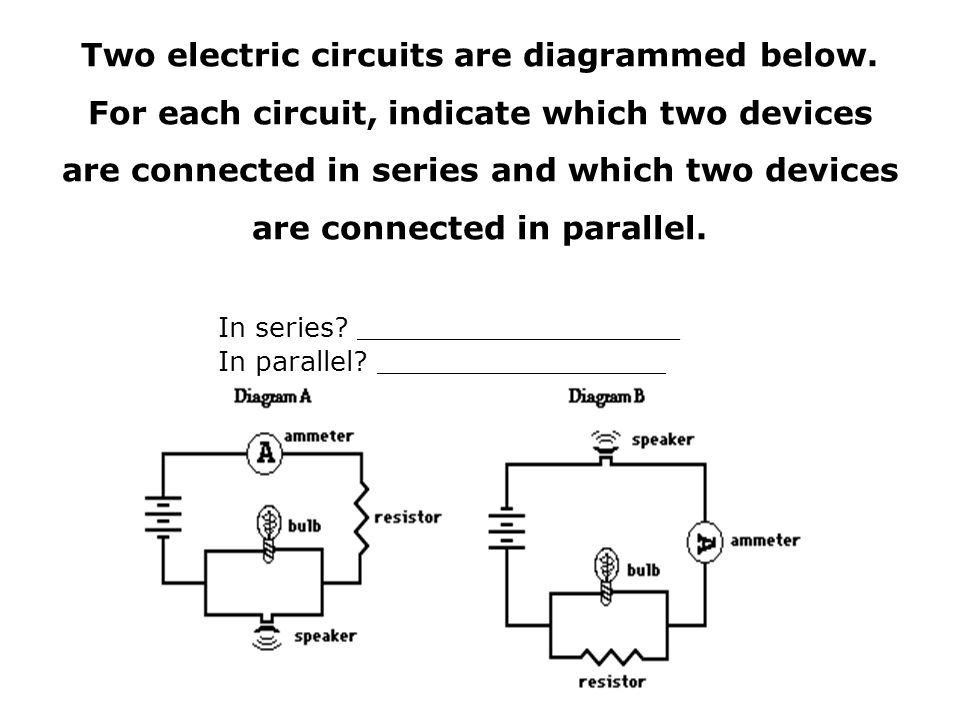 electric circuits series and parallel