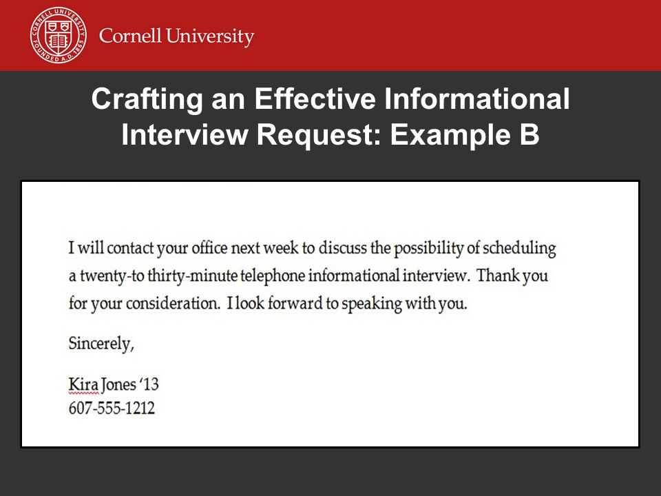 how to conduct an informational interview