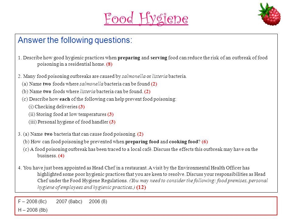 food hygiene quiz questions and answers - Holaklonec
