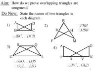 Proofs Involving Congruent Triangles Worksheet Answer Key ...
