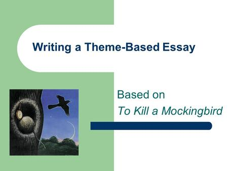 an essay on to kill a mockingbird to kill a mockingbird literary