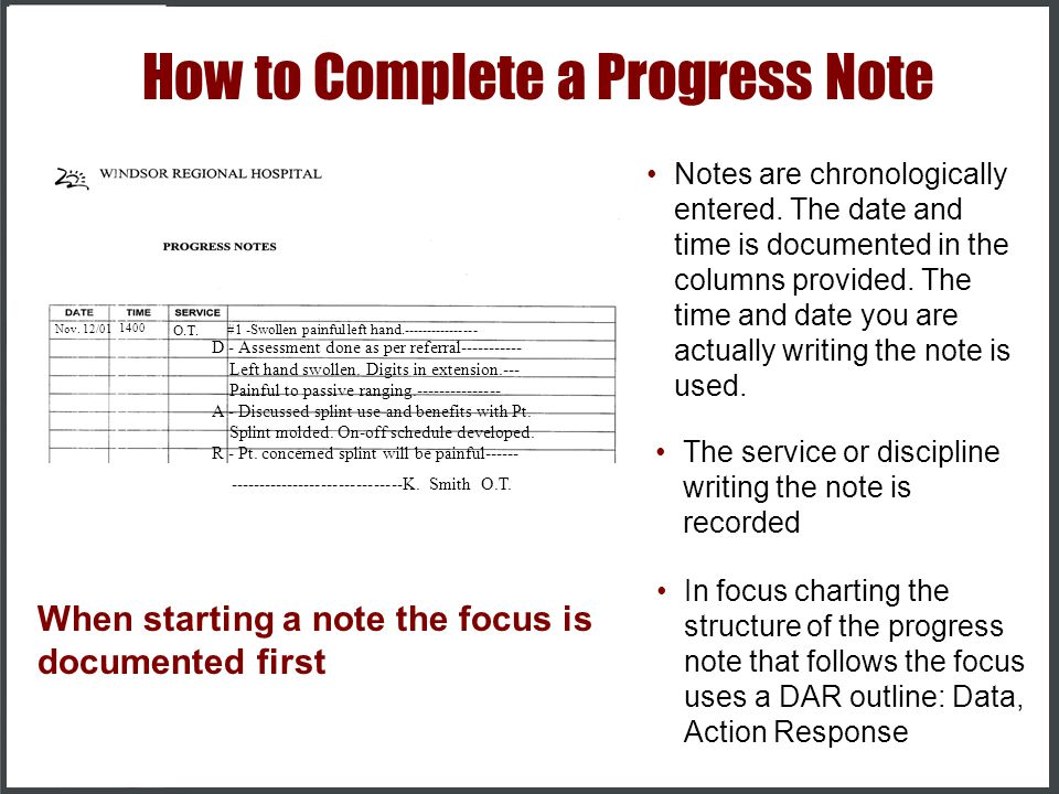 charting progress notes - Thinkpawsitive - progress note