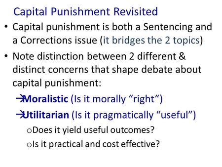An analysis of the importance of capital punishment Essay Service