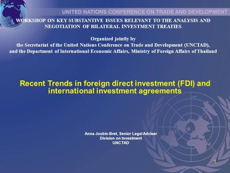 International Investment Treaties in South America November, ppt