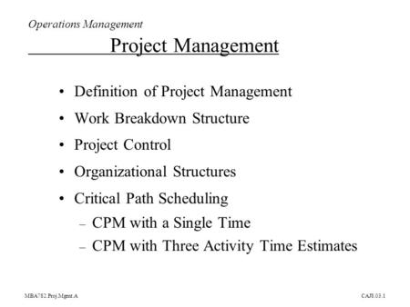 The McGraw-Hill Companies, Inc, Chapter 3 Project Management - ppt - critical path project management