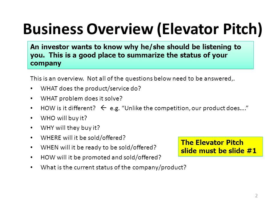 elevator speech example
