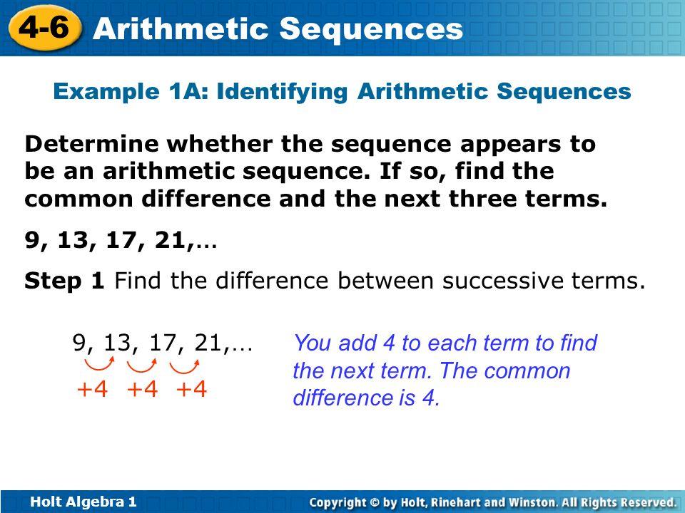 ... Doc#728546 Arithmetic Sequence Example U2013 52 Arithmetic Sequences   Arithmetic  Sequence Example ...