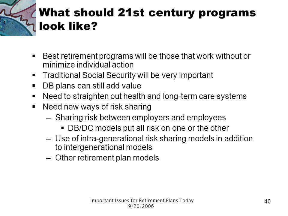 Important Issues for Retirement Plans Today - ppt download