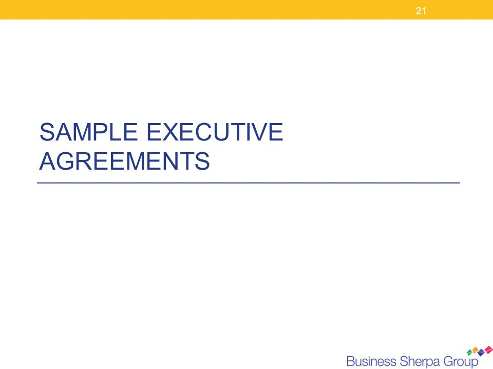 The Business and Behaviours Behind Executive Agreements - ppt download - sample executive agreement
