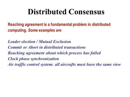 Randomized and Quantum Protocols in Distributed Computation Michael - mutual consensus