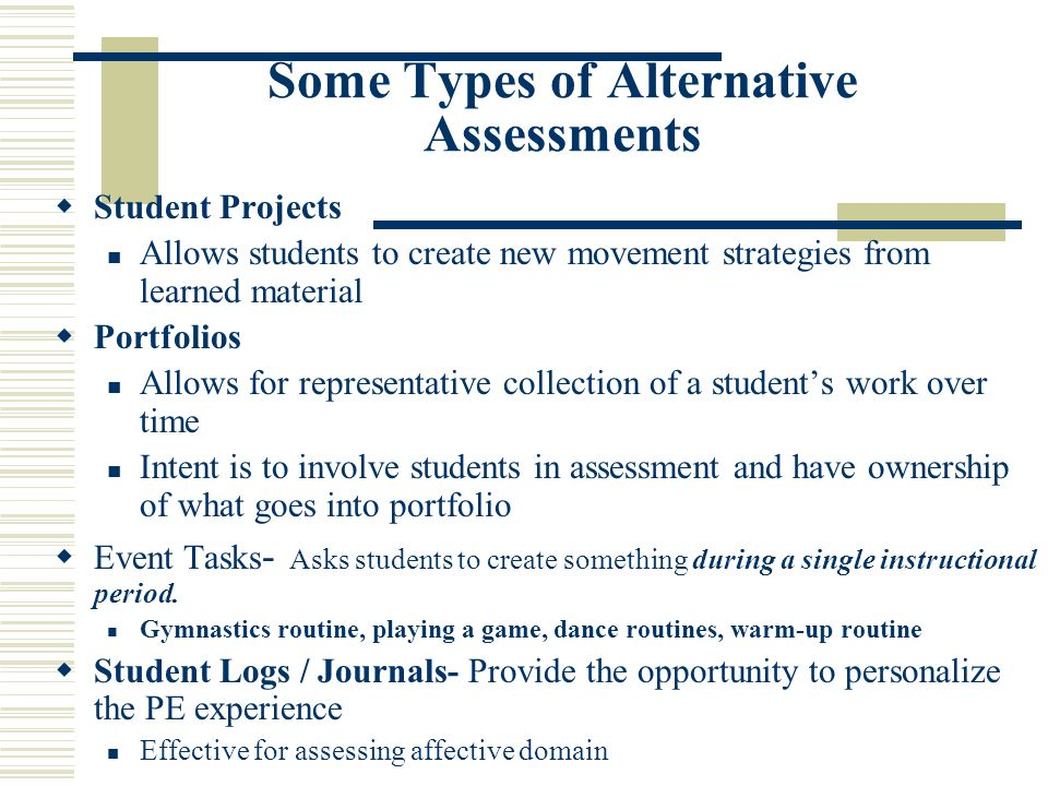 Authentic Assessment in Physical Education - ppt video online download