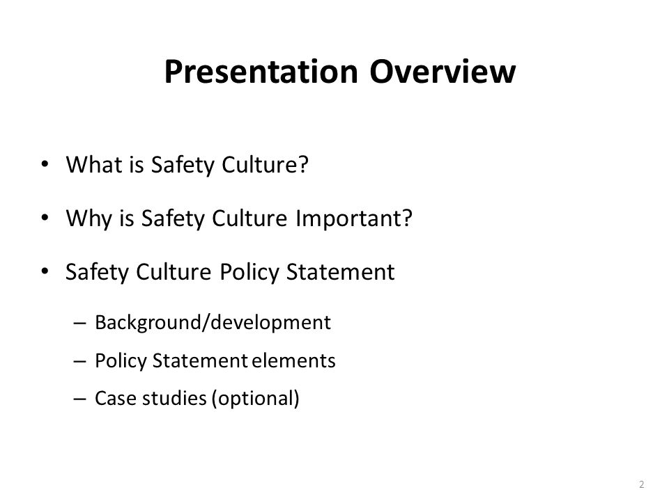 Safety Culture Policy Statement Template - ppt download