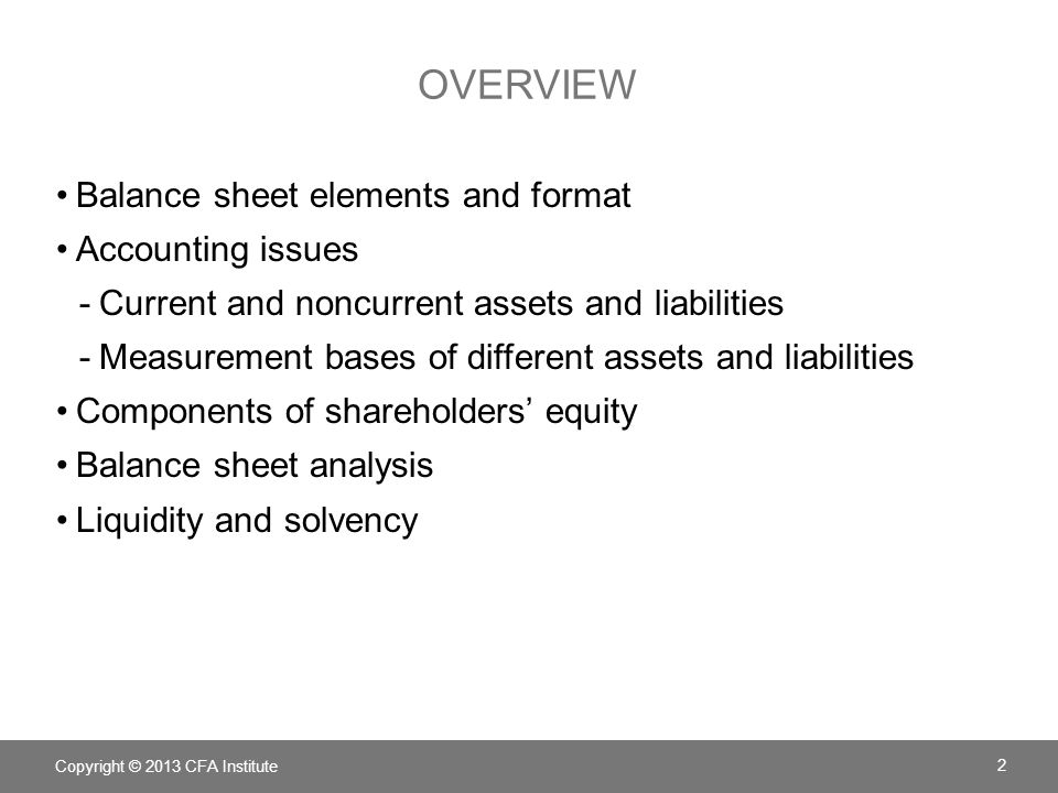 Chapter 5 Understanding Balance Sheets - ppt download - components of balance sheet