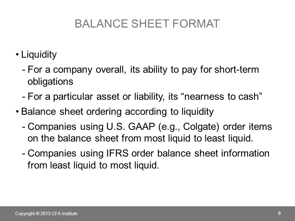 gaap balance sheet template - Akbagreenw - Balance Sheet Classified Format