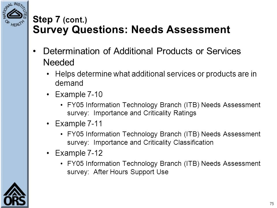Needs Assessment Example   Templatexample.unicloud.pl