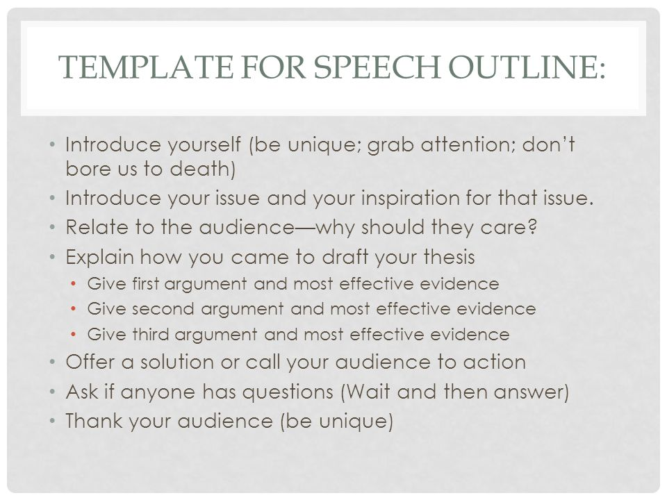Freedom Of Speech Example Template sample freedom of speech – Demonstration Speech Example Template