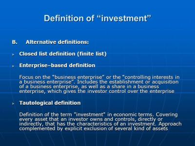 International investment agreements: key issues and features - ppt download