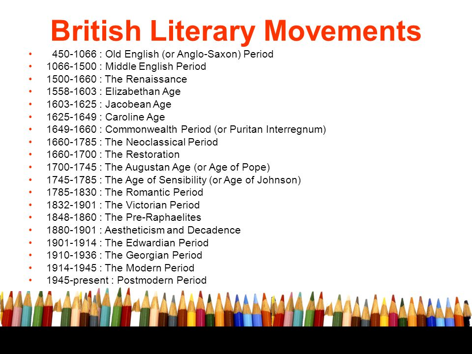 Major Literary Movements - ppt download