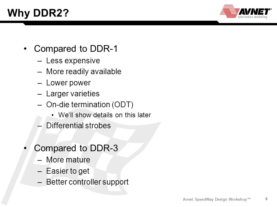 why should be improved ddr2 memory to ddr3