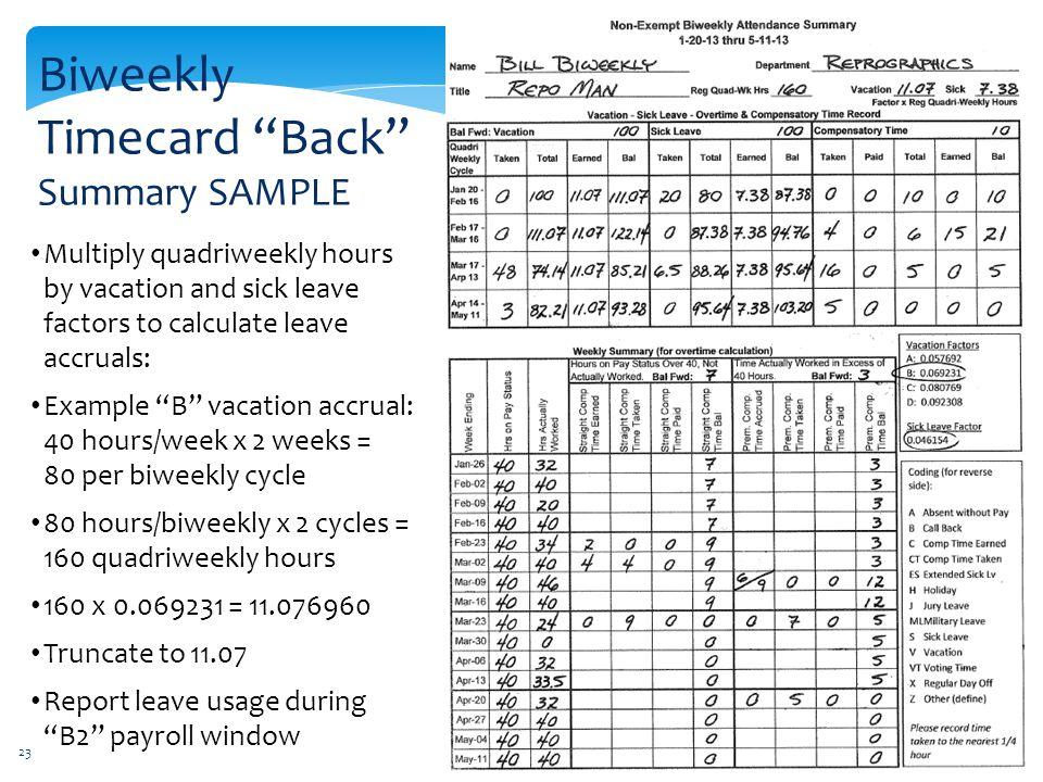 Biweekly Pay Conversion - ppt download - biweekly time sheet calculator