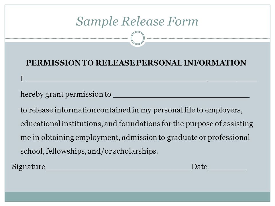 Personal Information Release Form Template Gallery. SaveEnlarge