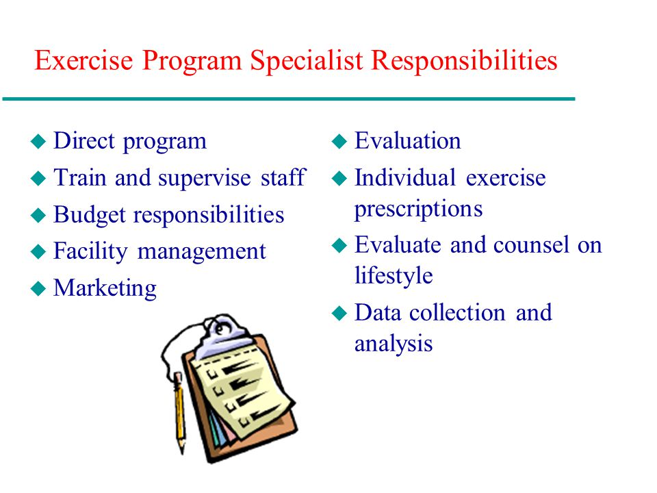 data specialist job description exercise program specialist