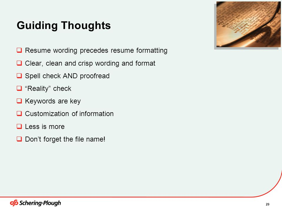 Resume Writing Training March 3, ppt video online download - wording for resume