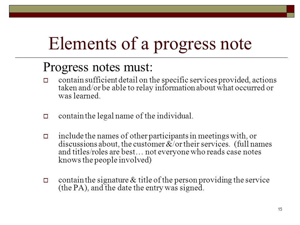 Case Management and Progress Notes - ppt video online download - progress note