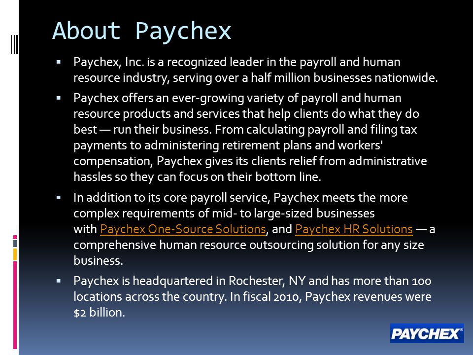 Paychex Affiliate Program - ppt download
