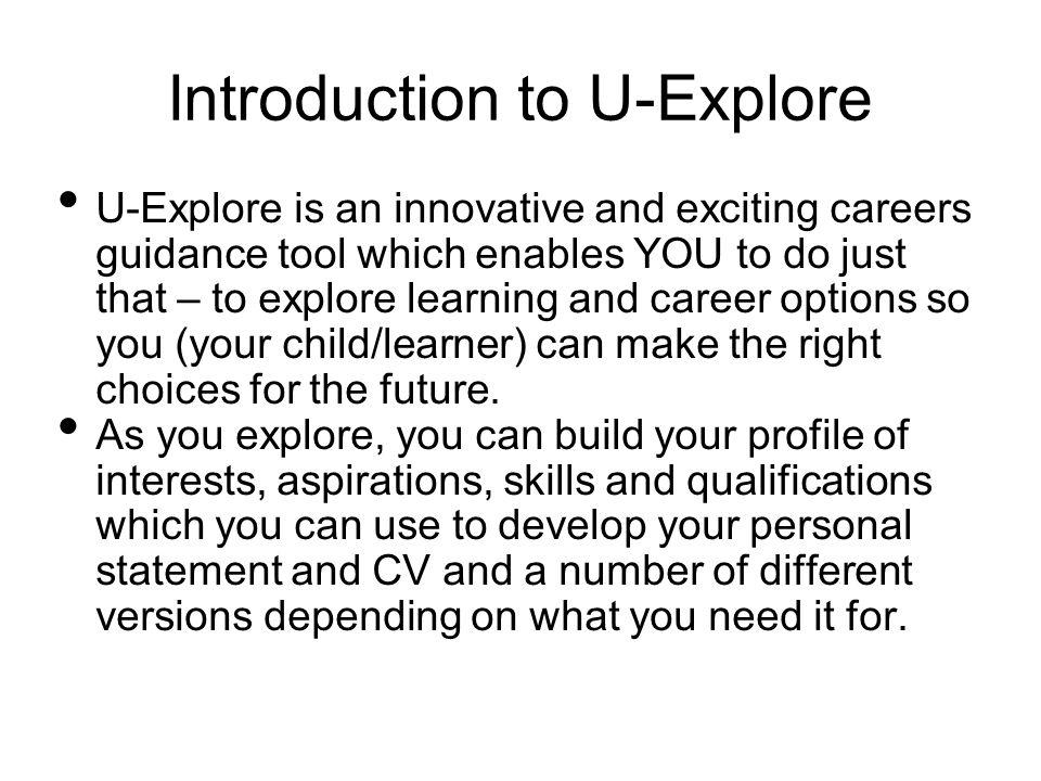 Using U-Explore A navigation guide - ppt download