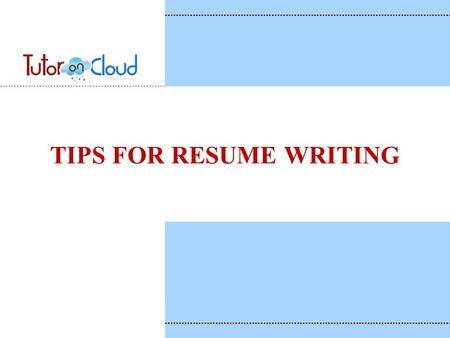 Open the Door to Opportunity! RESUME WRITING Primary Purpose A