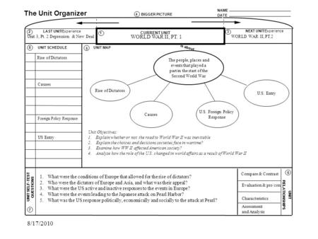 Unit Organizer Routine Template block schedule lesson plan template - unit organizer routine template