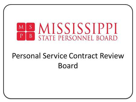 RFP PROCESSES Contracts for Professional Services - ppt download - personal service contract