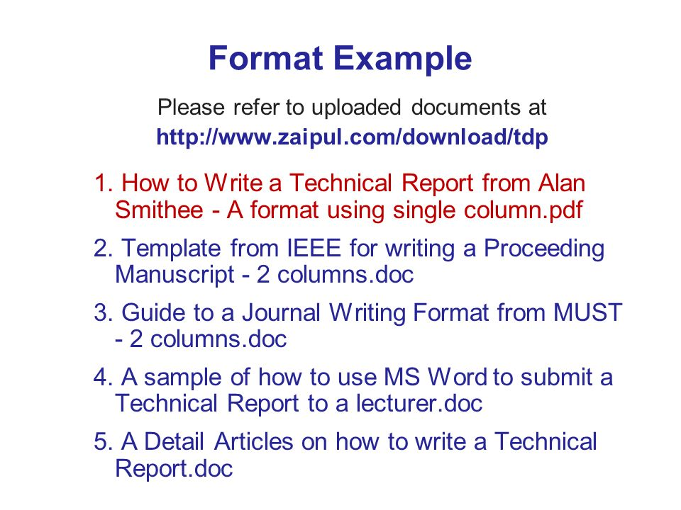 Technical Report Writing Template  LondaBritishcollegeCo