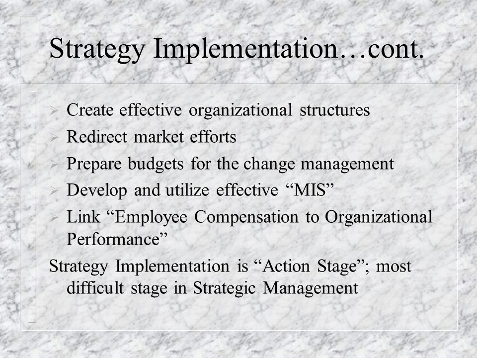 An Overview of the Strategic Management; Concepts  Process\u201d - ppt - effective employee management strategy