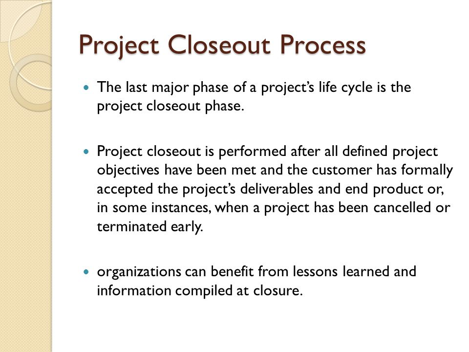 Project Closeout Sample Project Closeout  Documents In Pdf Word