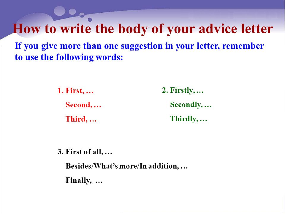 Suggestion Letter Project Writing an advice letter 100 Unit 戚墅堰 - suggestion letter