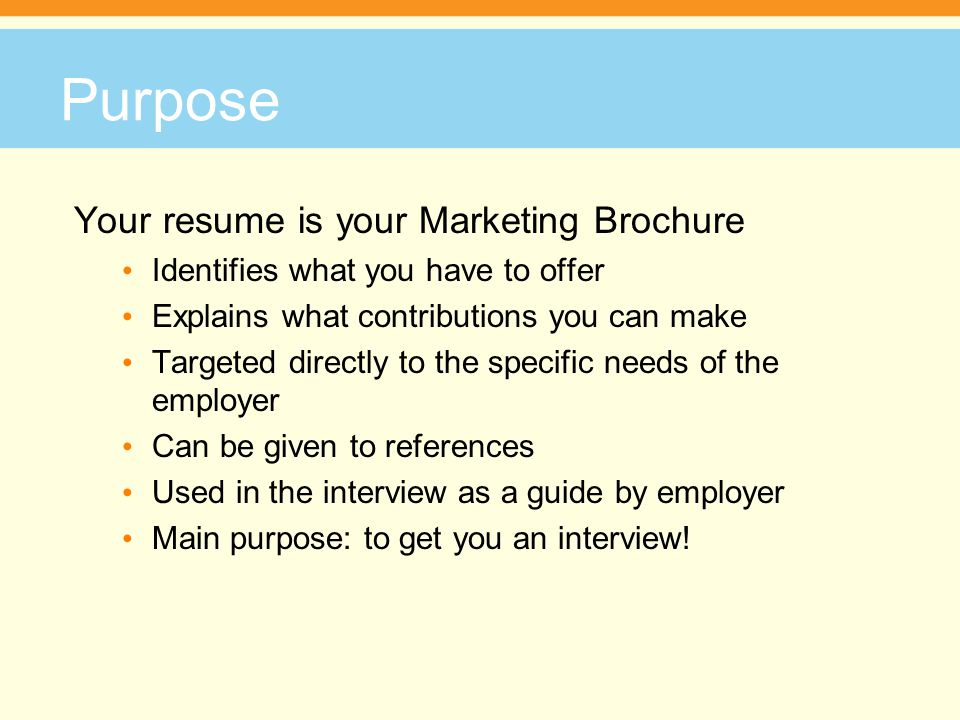 Facilitatoru0027s Name Phone Number Address - ppt download - purpose of a resume