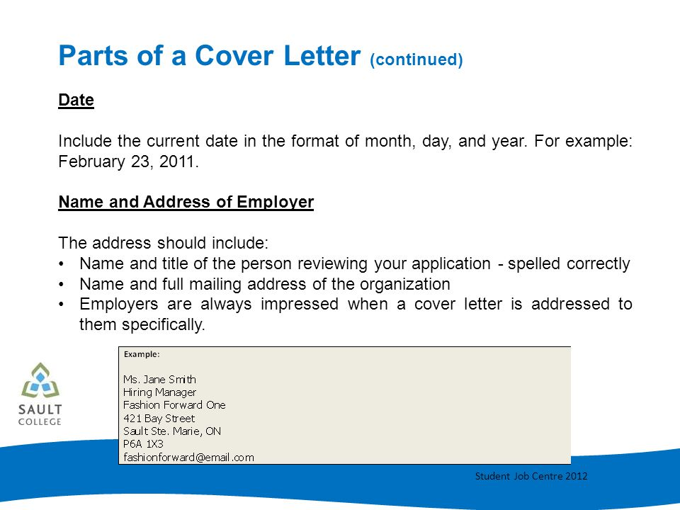 cover letter addressed to person