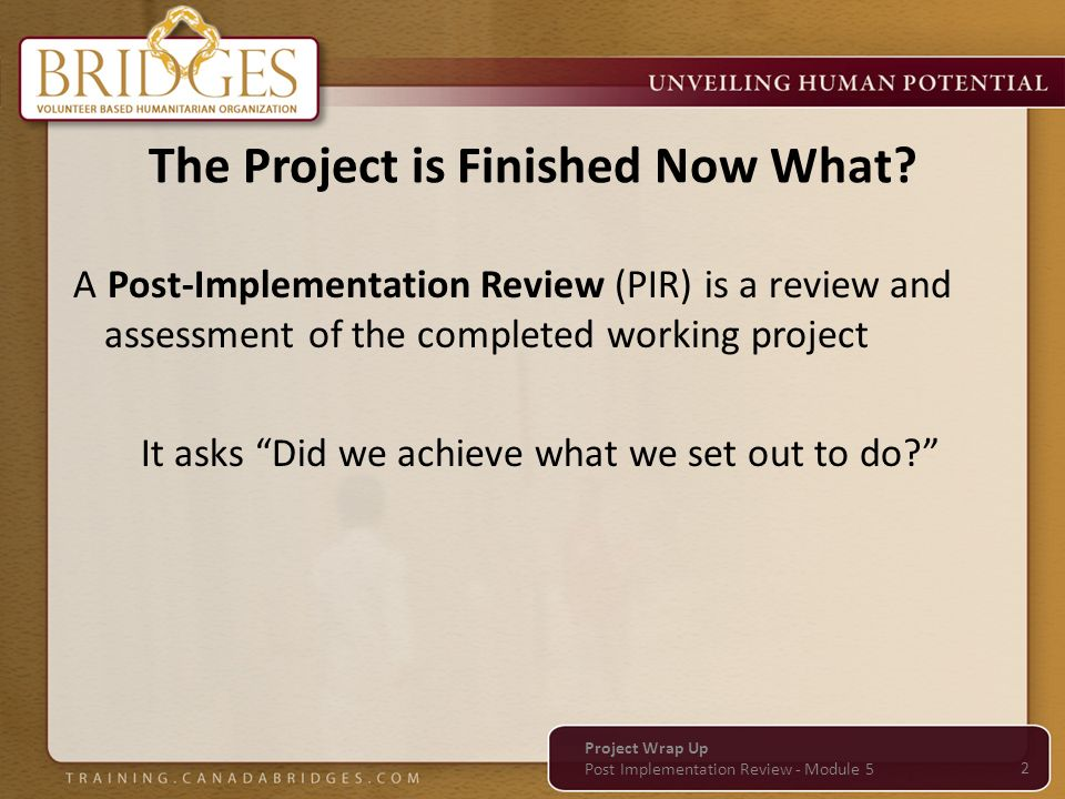 Project Wrap-up Module 5 Project Wrap Up - ppt video online download